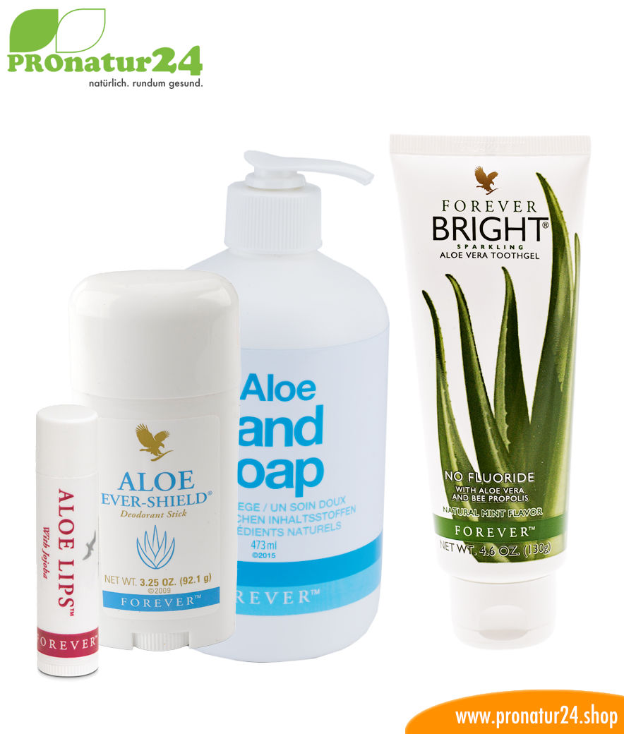 aloe vera hygiene starter set f r dich forever pronatur24 shop. Black Bedroom Furniture Sets. Home Design Ideas