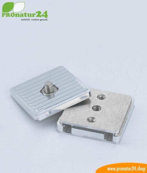 Erdungsplatte mit Schraubverschluss