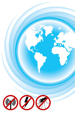 Weltweite Nutzung vom Baldachin Elektrosmog PRO
