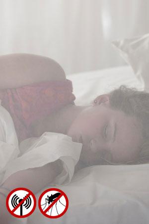 Geschützter Schlaf ohne Elektrosmog durch Funk auch für Kinder