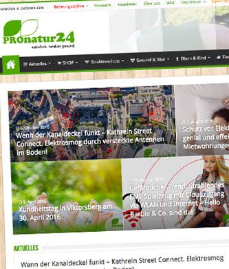 PROnatur24 Portal Startseite