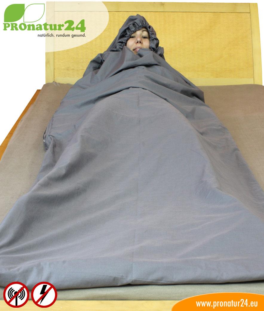 schlafsack tsb elektrosmog pro mit rundum schutz vor funk. Black Bedroom Furniture Sets. Home Design Ideas