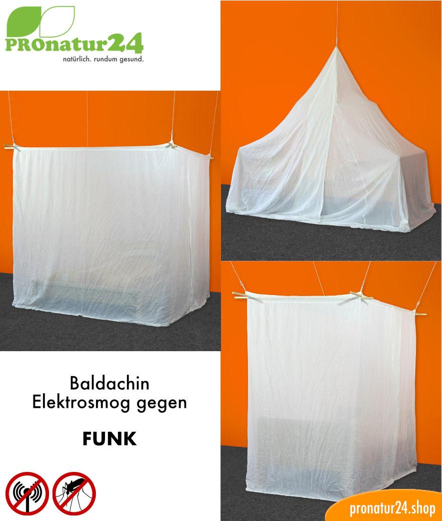 Baldachin Elektrosmog FUNK Schutz Vor WLAN Handystrahlung - Elektrosmog im schlafzimmer