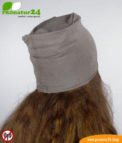 Abschirmender Kopfschutz gegen Elektrosmog HF durch Handy, WLAN, LTE,...