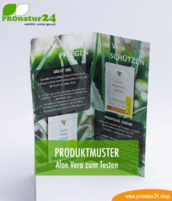 Aloe Vera Tester Produktmuster Mappe