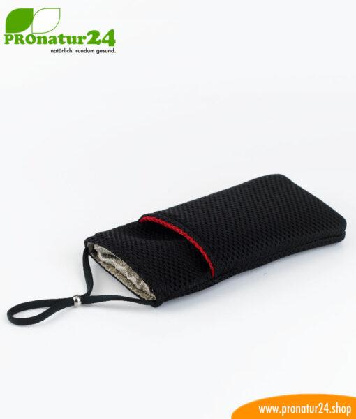 Handyhülle Handytasche eWall, 3in1 Funktion, wendbar, schwarz-rot