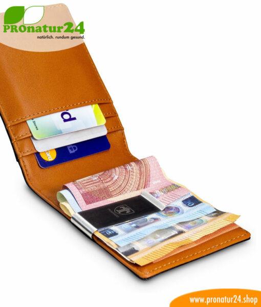 Geldbörsen mit eingebautem RFID NFC Schutz für Männer und Frauen