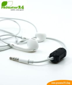 Ferritkern Filter gegen Elektrosmog im Headsetkabel, klickbar, für Kabel bis zu 5 mm Durchmesser - 1x FERRITKERN GRATIS!