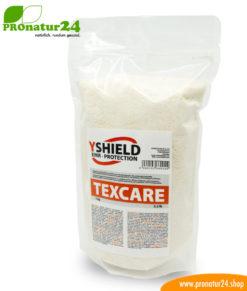 TEXCARE Waschmittel in Pulverform von YShield. Speziell entwickelt für Abschirmstoffe.