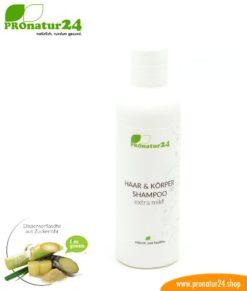 SHAMPOO extra mild. Haar & Körper Shampoo für die empfindliche Haut. Perfekt geeignet für Babys. Duschen neu definiert inkl. nachhaltiger Verpackung.