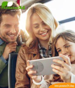 FAZUP Familie silver. Passive Antenne zur Reduktion vor Mobilfunkstrahlung! Innovativer Schutz vor Elektrosmog von iPhone, Samung, Huawei. Aufzukleben wie ein Chip zu Harmonisierung.